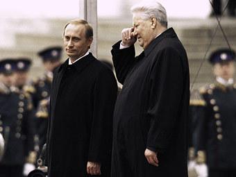 Владимир Путин и Борис Ельцин в день инаугурации Путина в 2000 году. Фото из архива РИА Новости, Владимир Вяткин