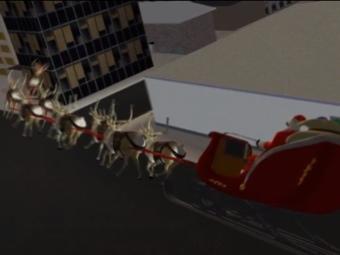 Кадр из промо-видео NORAD Tracks Santa