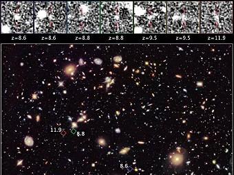 """""""Хаббл"""" разглядел галактики эпохи реионизации"""