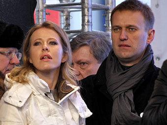Ксения Собчак и Алексей Навальный. Фото ИТАР-ТАСС, Марина Лысцева