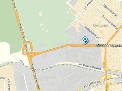 """Участок Молодогвардейской улицы, примыкающий к МКАД. Изображение с сервиса """"Яндекс.Карты"""""""