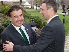 Михаил Саакашвили и Виталий Кличко на встрече в Киеве. Фото Reuters