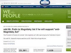 """Скриншот петиции на сайте """"We the People"""""""
