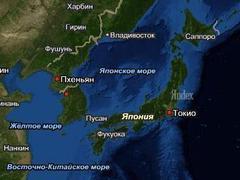 Японское море. Изображение с сайта maps.yandex.ru