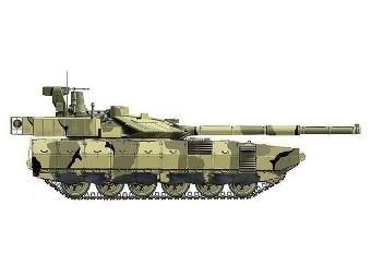 """...перспективных основных боевых танков на базе единой платформы тяжелой бронетехники  """"Армата """" в 2014 году."""