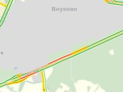 На Киевском шоссе образовался затор из-за упавшего Ту-204