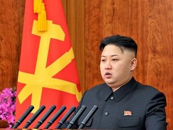 Новогоднее выступление Ким Чен Ына. Фото Reuters