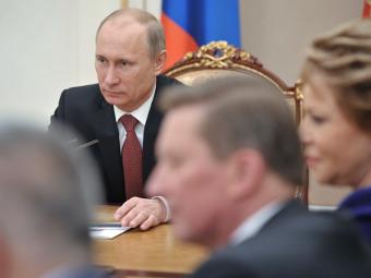 Владимир Путин на заседании Совета безопасности России. Фото РИА Новости, Алексей Никольский