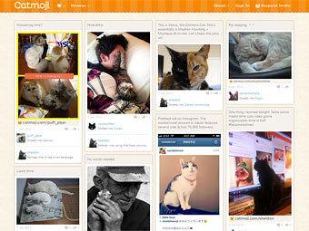 Сайт социальной сети Catmoji