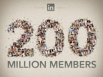 В профессиональной соцсети LinkedIn насчитали 200 миллионов пользователей