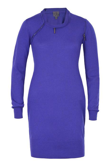 Ck Calvin Klein, трикотажное ультрамариновое платье с длинным рукавом и...