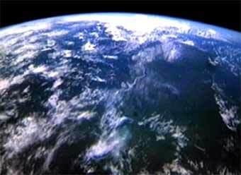 Планета Земля - вид с орбиты. Кадр CNN, архив