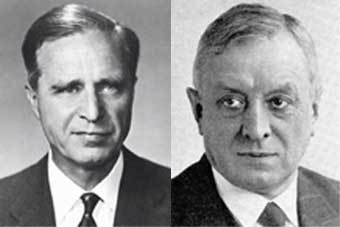 Прескотт Буш (слева) и Фриц Тиссен. Фото с сайтов библиотеки Конгресса и Немецкого исторического музея