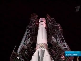 Запуск ракеты с космодрома Байконур. Кадр Первого канала