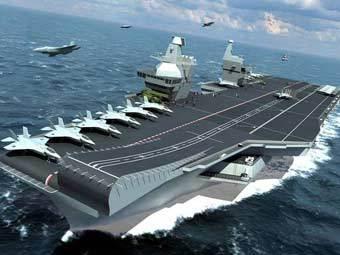 Авианосец CVF. Иллюстрация с сайта royal-navy.mod.uk