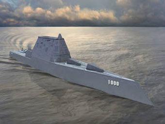 Эсминец проекта DDG-1000 Zumwalt. Иллюстрация Northrop Grumman