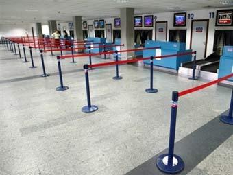 Зона контроля в аэропорту Тбилиси. Фото AFP