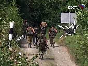 Абхазские военные в Кодори. Кадр телеканала