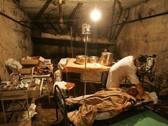 Подвал госпиталя в Цхинвали. Фото AFP