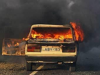 Последствия бомбардировок в Гори. Фото AFP