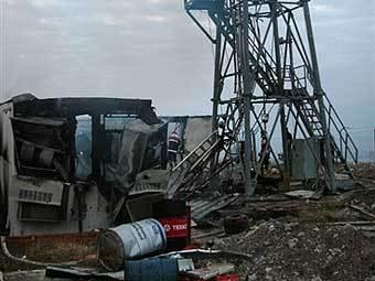 Уничтоженная радиолокационная станция на территории Грузии. Фото AFP