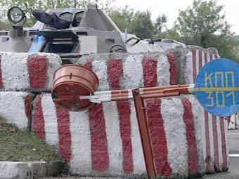 Пост российских миротворцев в Абхазии. Фото Юлии Вишневецкой