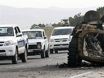 Патруль грузинских полицейских. Фото AFP