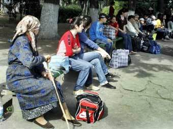Беженцы из Южной Осетии. Фото AFP