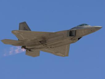 Истребитель F-22. Иллюстрация Lockheed Martin