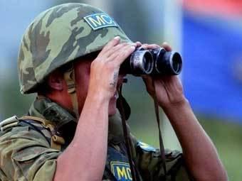 Российский миротворец в Южной Осетии. Фото AFP