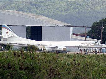 Ту-160 ВВС России на военной базе в Венесуэле. Фото AFP