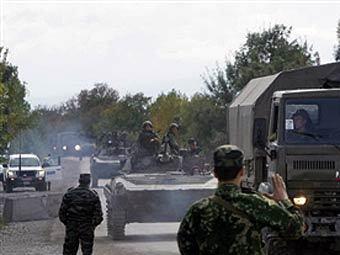 Блокпост российских военных в буферной зоне на границе Грузии и Южной Осетии. Фото ©AFP