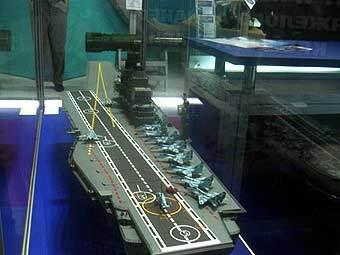 "Макет авианосца ""Адмирал Горшков"". Фото с сайта militaryparitet.com"
