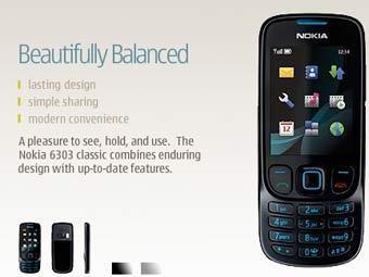 Nokia 6303 Classic. Изображение с сайта производителя