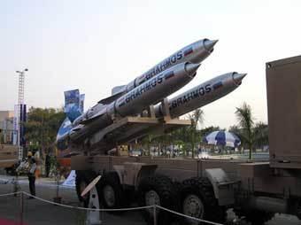 """Ракеты """"БраМос"""". Фото с сайта www.defense-update.com"""