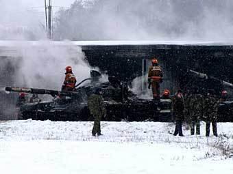 Пожар в воинской части. Фото с сайта www.gs.by
