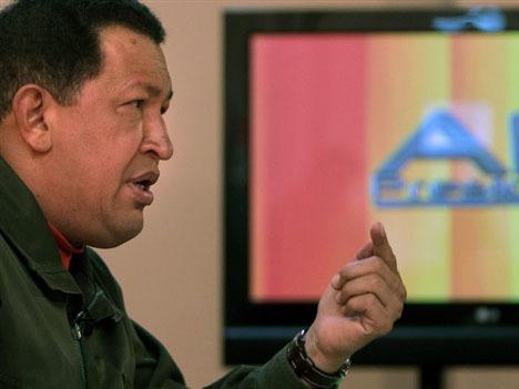 Чавес обращается к народу. Фото ©AFP