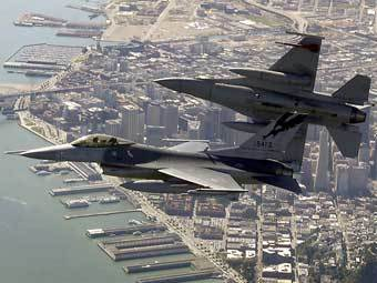 Истребители F-16 Национальной гвардии ВВС США. Фото с сайта www.norad.mil