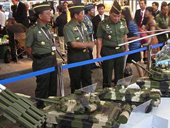 """Экспозиция """"Рособоронэкспорта"""" на выставке в Индии. Фото """"Рособоронэкспорт""""."""