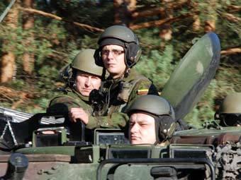 Литовские военнослужщие на учениях. Фото с сайта kam.lt