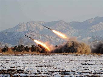 Пуск ракет в Северной Корее. Фото из архива ©AFP