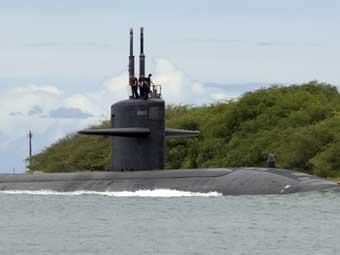 """Подводная лодка """"Хьюстон"""". Фото ВМС США."""