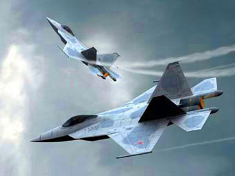 Возможный облик российского истребителя пятого поколения. Рисунок Джозефа Гейшала с сайта planespictures.com