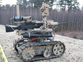 Swords, дистанционно управляемый боевой робот. Фото с сайта www.qinetiq.com