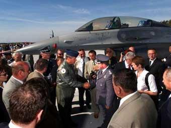 Истребитель F-16 ВВС Польши. Фото Министерства обороны США.
