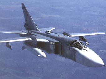 Фронтовой бомбардировщик Су-24М. Фото с сайта www.airwar.ru