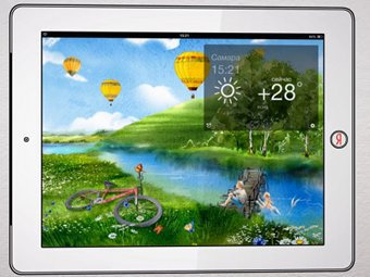 """Кадр из видеопрезентации приложения """"Яндекс.Погода"""" для iPad"""