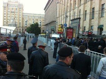 Полиция на Триумфальной 31 мая. Фото @timkakabadze