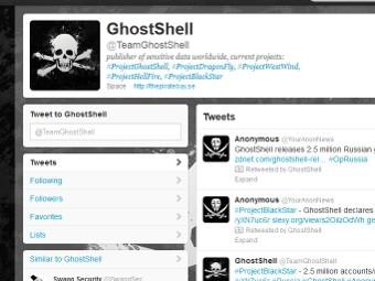 Скриншот твиттера GhostShell